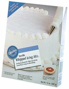 Cake Decorating Vanilla Icing : Vanilla Whipped Icing Mix - Cake Decorating